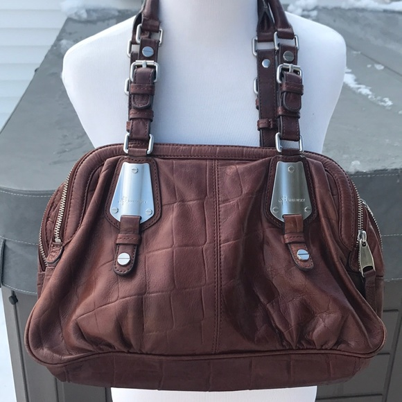 b. makowsky Bags   B Makowsky Amazing Brown Leather Bag   Poshmark be1612ece5